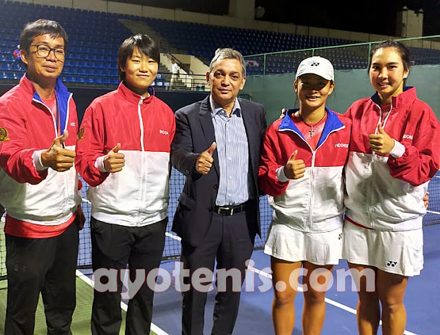 Aldila dan Priska Ungkap Rahasia Kalahkan Petenis Taiwan di Fed Cup Group-I Asia Oceania