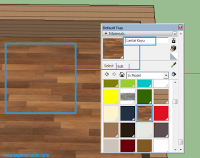 Cara Setting Lantai Kayu Mengkilap di Vray Sketchup