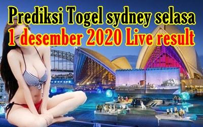 Bocoran Togel Sydney 1 Desember 2020