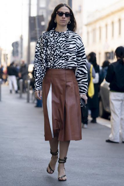 С чем носить кожаную юбку 3-3