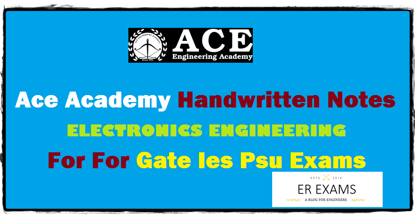 Ace Academy Electronics Engineering Notes Free Pdf Download