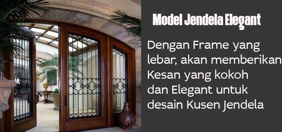 Kusen jendela elegant