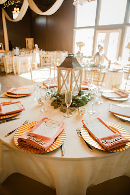 reception table decor and lantern centerpiece
