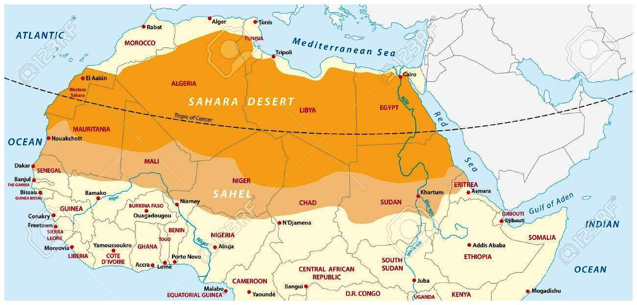 Sahara Desert On Map The Sahara Desert Expanded by 10% in the Last Century
