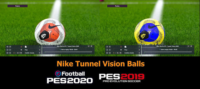 Merlin Tunnel Vision Balls For PES 2020 and PES 2019
