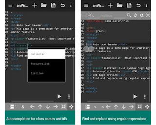 AnWriter kode editor HTML gratis untuk Android