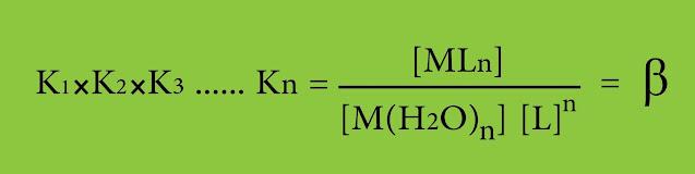 ثابت الاستقرار الكلي β للمعقد
