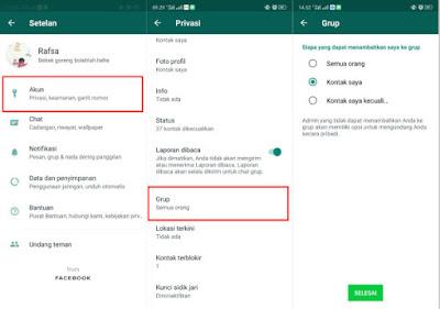 Cara Agar Akun Whatsapp Tidak Bisa Dimasukkan ke Dalam Grup