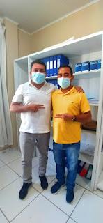 Aluizio Santos visita o prefeito de Buriti, Arnaldo Cardoso