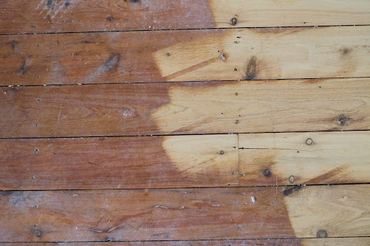 First sand of old cypress pine flooring