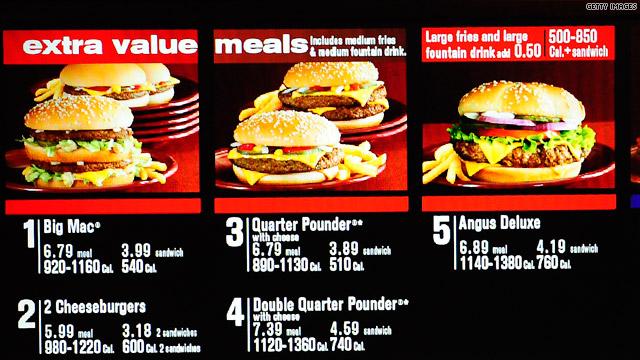 Menus With Calories In Restaurant Food