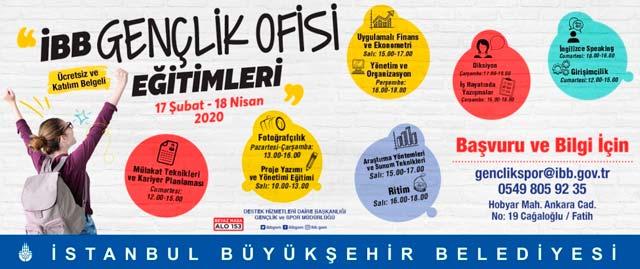 İstanbul Büyükşehir Belediyesi Gençlik Ofisi'nin ücretsiz eğitimleri başlıyor. Detaylar kariyeristanbul.net'te!