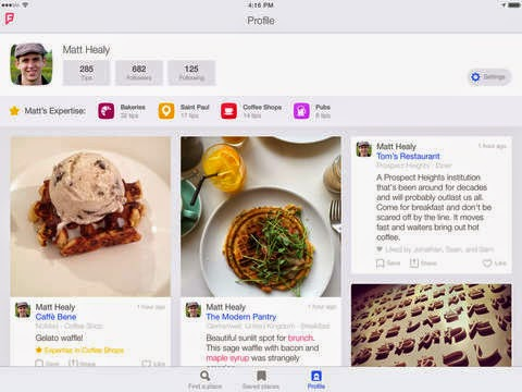 Foursquare app for iPad is finally here