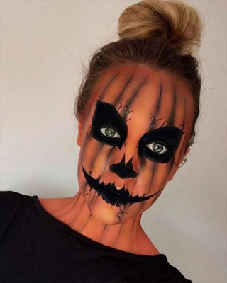pumpkin makeup halloween
