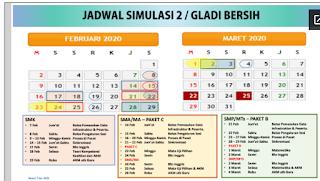 Jadwal Gladi Bersih UNBK 2020