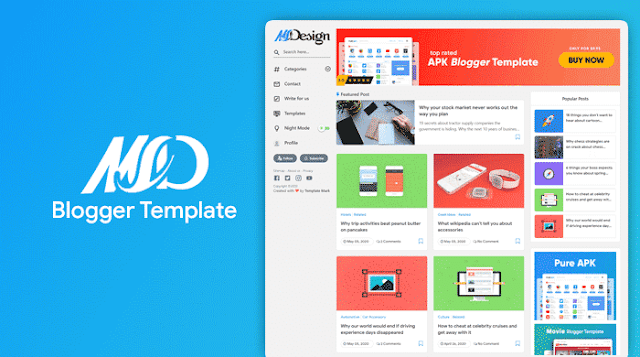 MSD Grid style Blogger Template