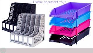 plastic document trays