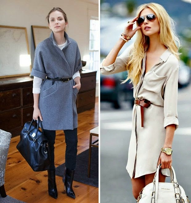 outfit-inspiration-slim-belt-over-coat-dress