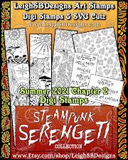 Steampunk Serengeti Digi Stamp Collection