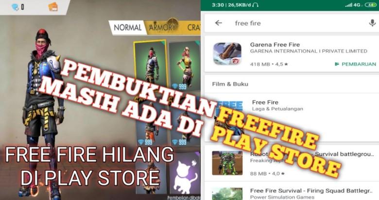 Free Fire Dihapus Dari Playstore