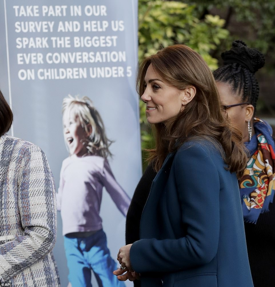 Duchess Kate Visits Stockwell Gardens Nursery & Pre-School
