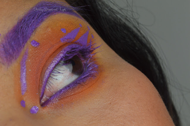 Orange smokey eyes, extra spice sophxrevolution palette, makeup revolution london