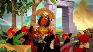 Elmo the Musical Guacamole the Musical, Temple of Spoons, Nose McDonald, Rhombus of Recipes, The Queen of Nacho Picchu, Sesame Street Episode 4404 Latino Festival season 44