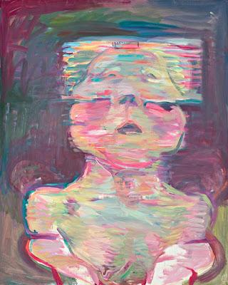 Transparentes Selbstportraet (1987), Maria Lassnig