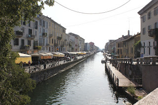 Milan's Naviglio Grande is lined with bars and restaurants that make it popular at night