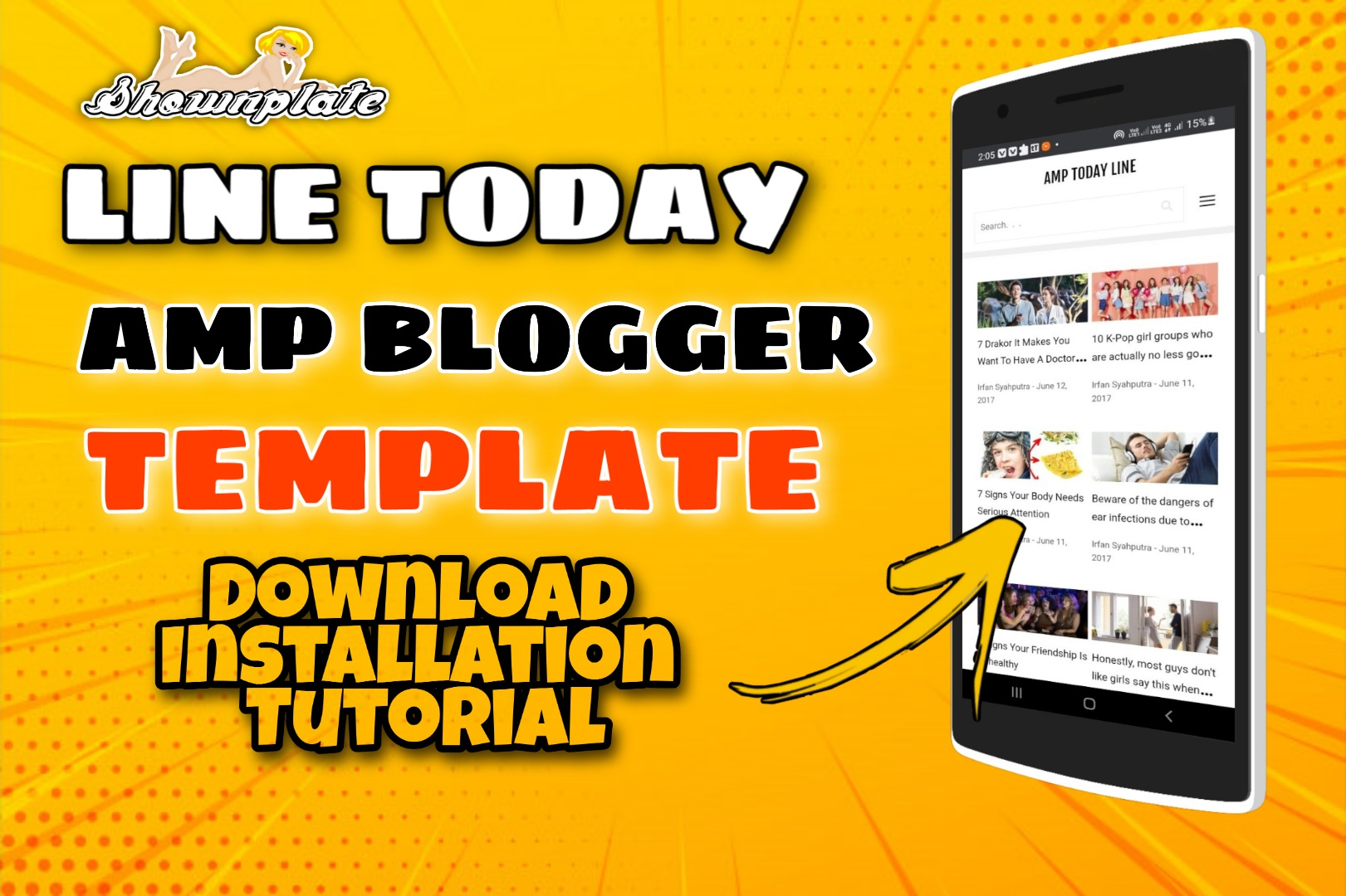 Line Today Best AMP Blogger Template 2021