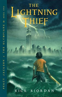 Percy jackson and the Lightning Thief by Rick Riordan book one in the series