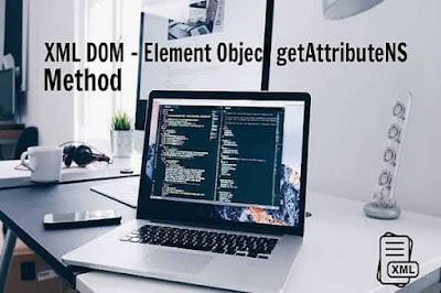 XML DOM - Element Object getAttributeNS Method