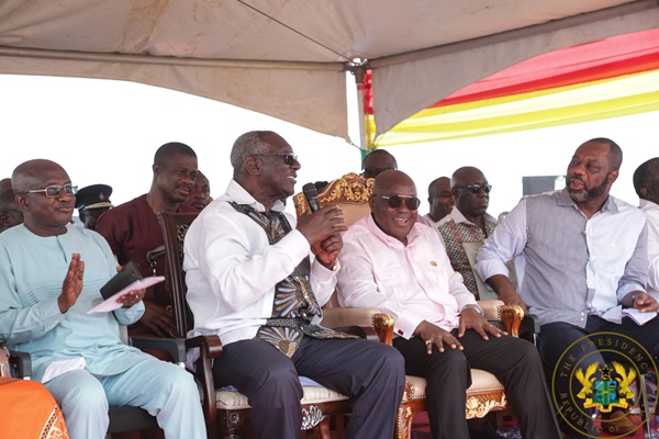 President Akufo-Addo Cuts Sod For Creative Arts Senior High School; J.A. Kufuor Senior High Tech. School
