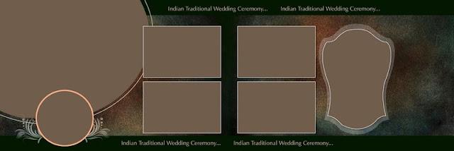 भारतीय वेडिंग फोटो एल्बम psd टेम्पलेट6