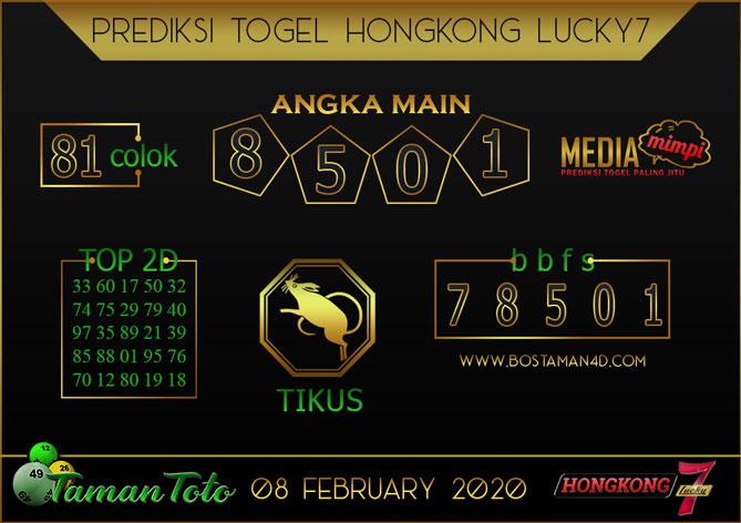 Prediksi Togel HONGKONG LUCKY 7 TAMAN TOTO 08 FEBRUARY 2020