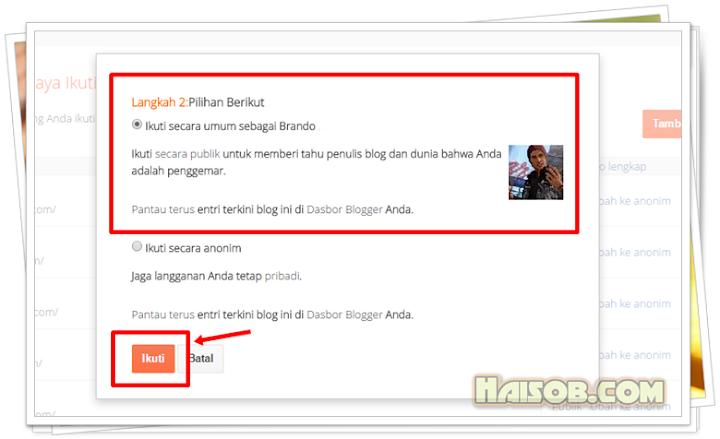 Langkah 5 Cara Follow Blog di Blogger Tampilan Terbaru