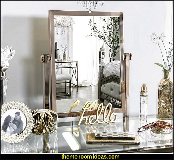 luxe glam old hollywood regency glamour bedroom decor