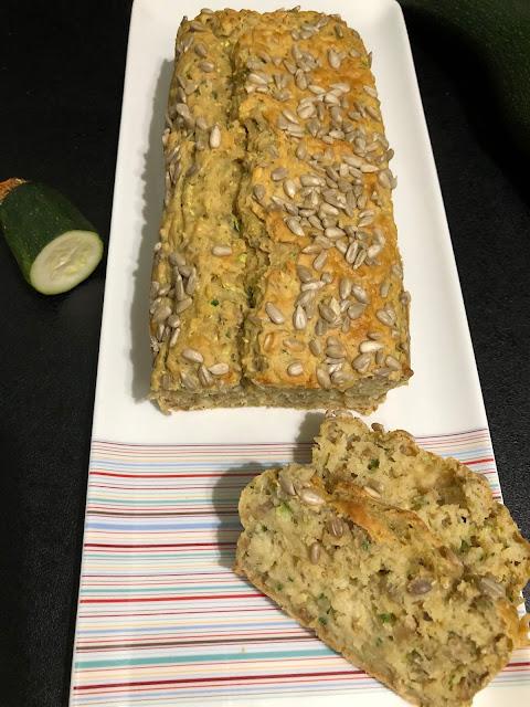Breadcake courgettes et graines de tournesol sans sucres ajoutés, Foodista Challenge