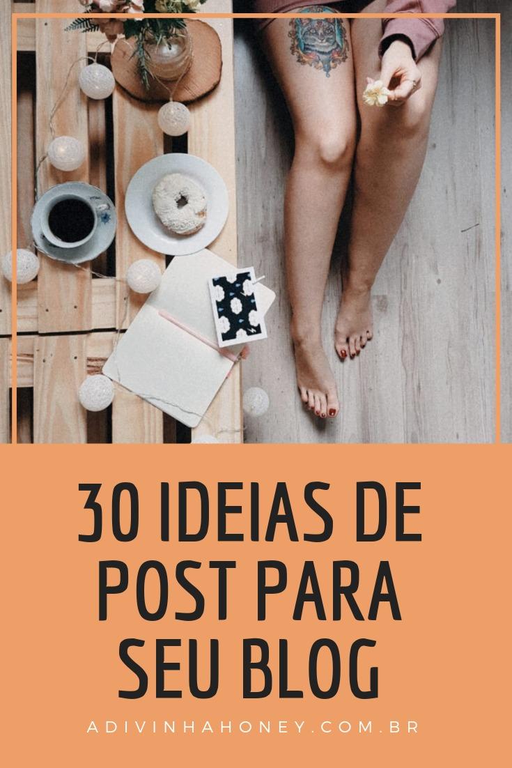 30 ideias de post para o seu blog