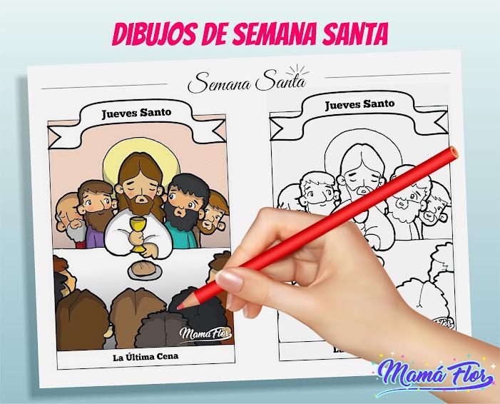 Dibujos de Semana Santa: Descarga, Imprime y Colorea
