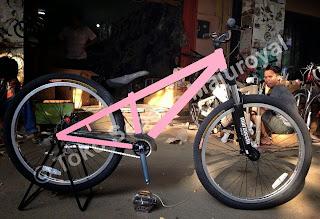 Paket Murah Merakit Sepeda DJ SINGLE Speed Fork Marzocchii
