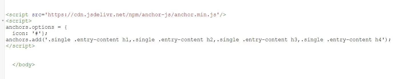 إضافة الأنكر لينك anchor بالإضافة إلى أيقونته أتوماتيكياً