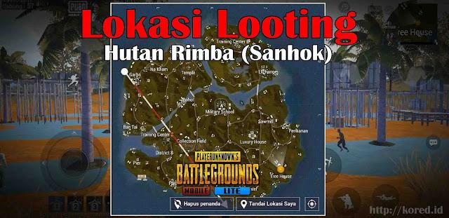 Lokasi Looting terbaik di Map Hutan Rimba Sanhok di Pubg Mobile Lite