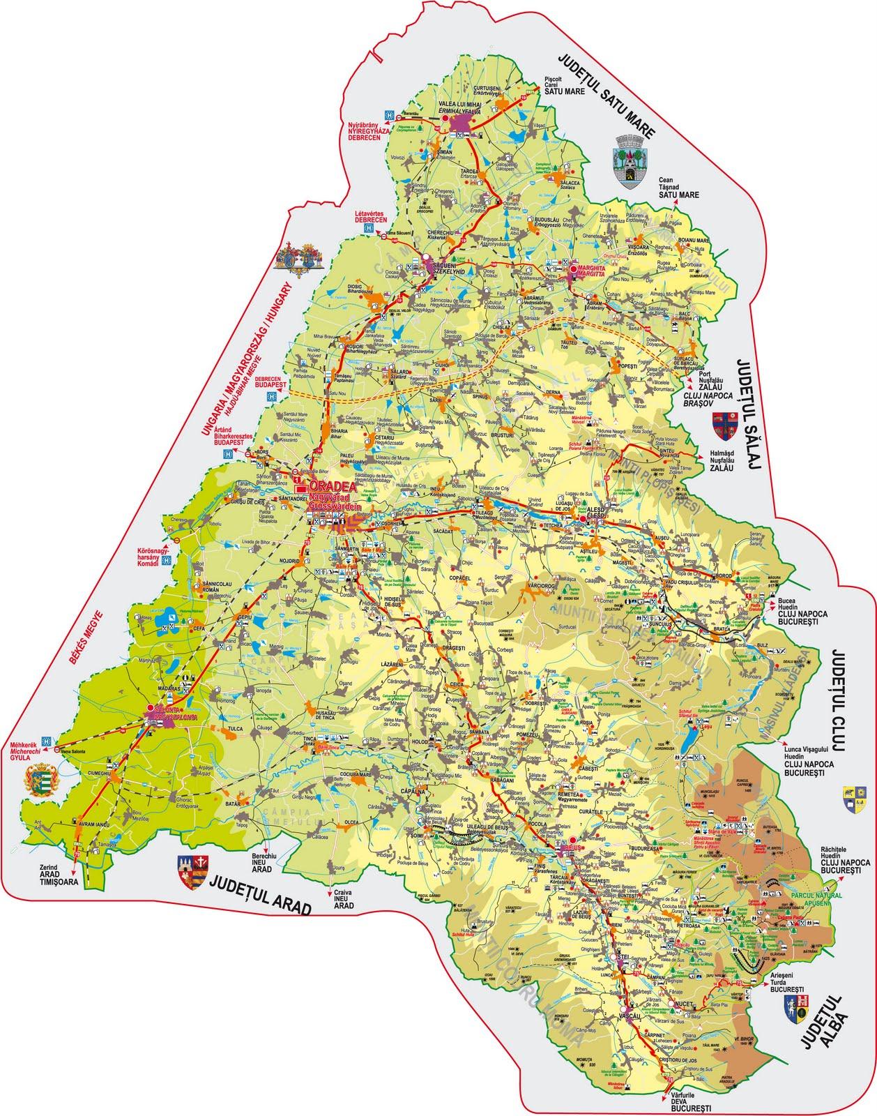 Dani Oradea Harta Judetului Bihor