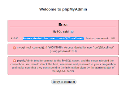 Unable to login to phpMyAdmin in XAMPP: Access denied for user 'root'@'localhost' (using password: NO)