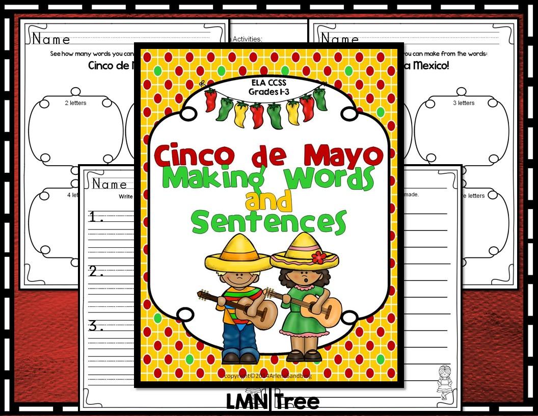 Cinco de Mayo: Making Words and Sentences - Classroom Freebies [ 816 x 1056 Pixel ]