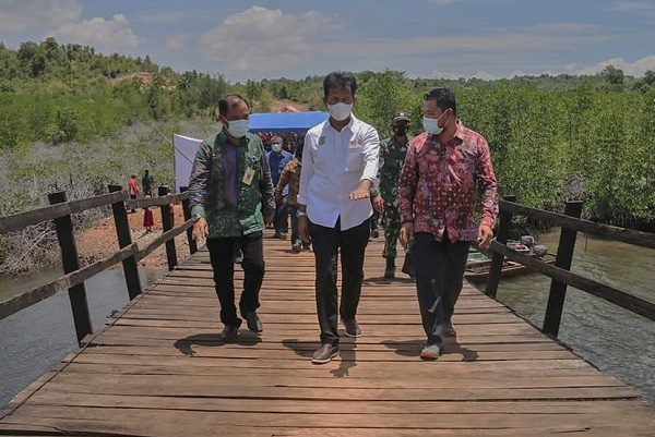 Wako Batam Resmikan Pembangunan Jembatan Antar Pulau