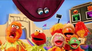 Elmo the Musical Athlete the Musical, velvet, Enormous Athlete, Sesame Street Episode 4325 Porridge Art season 43