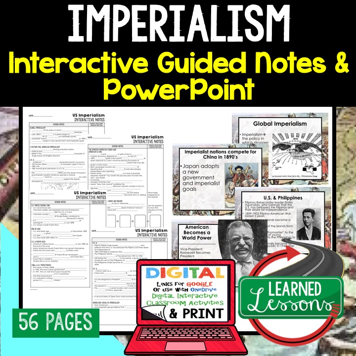 American History Guided Notes and PowerPoints with Digital