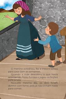 História João e o Pé de Feijão (Conta Pra Mim); Imprimir PDF Grátis